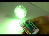 Подводный светодиодный RGB светильник для подсветки бассейнов или ванной