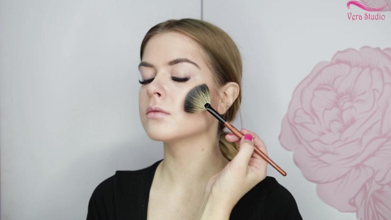 Verastudio урок № 12 Вечерний нежный макияж вариант Smoke Eyes