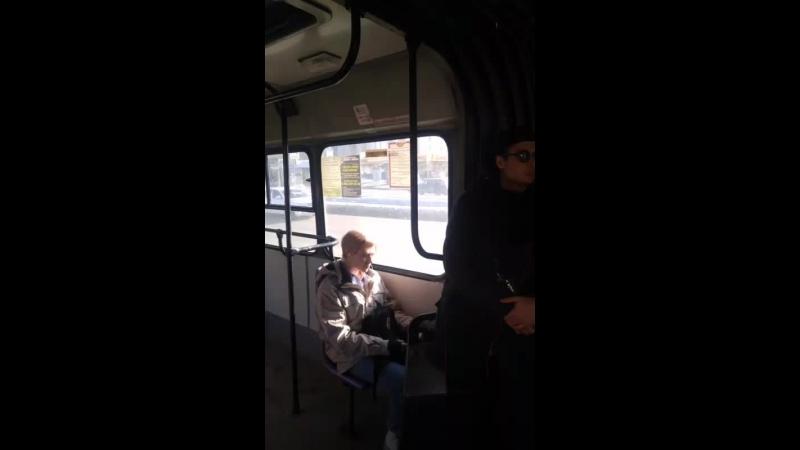 группа Грант поздравляет череповчанок в автобусах автоколонны 1456