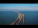 Крымский мост с высоты Подходы Тамань и Керчь Трасса Таврида