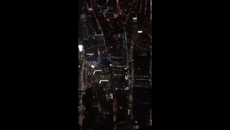 Ночной Нью-Йорк с вертолета