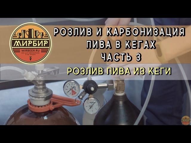 Розлив и карбонизация пива в кегах. Часть 3. Розлив пива из кеги.