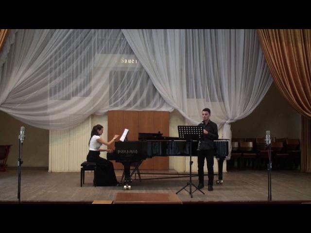 Алёна Томлёнова Концертино для кларнета и ф-но