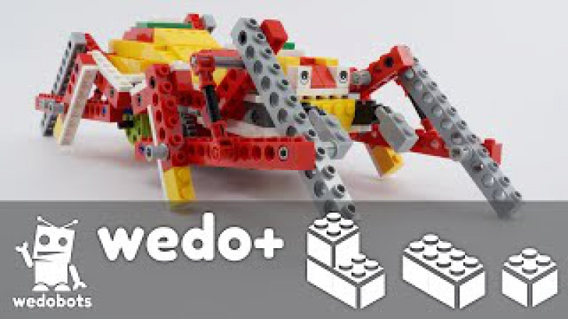 Wedobots: Halloween Spider Instructions with LEGO® WeDo™ bricks