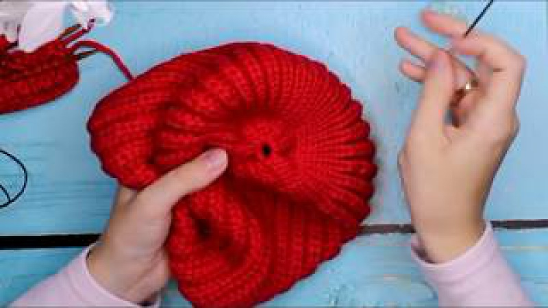 Шапка БИНИ спицами 📣ТРЕНД / Шапка резинкой/ Вязание Knit Mom