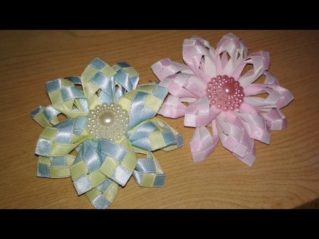DIY || Cara Membuat Kanzashi Flower 02 🌸 - Tutorial Bros Simple by Lista Tsurayya