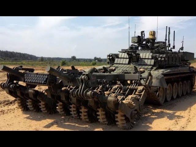 Военная приемка Проход Робот сапер в танковой броне