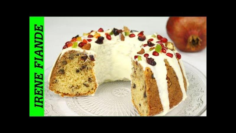 Рождественский праздничный кекс с шоколадной глазурью. Самый простой и вкусный