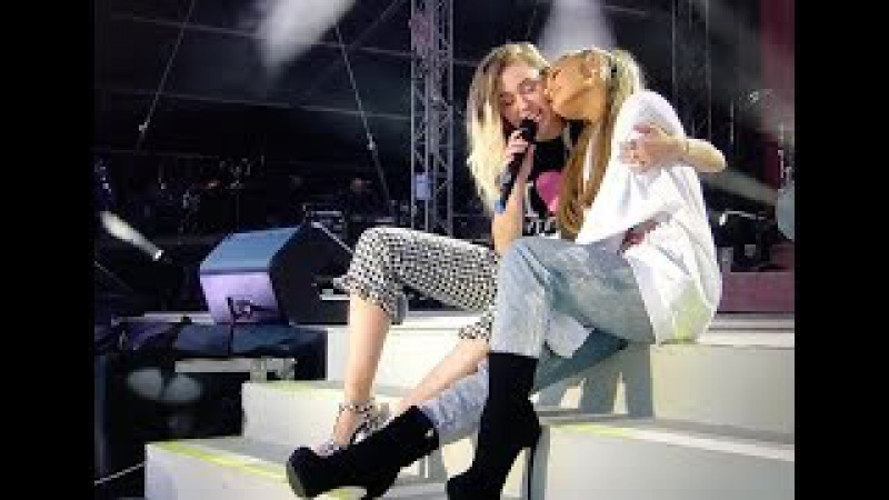 Miley Cyrus ft Ariana Grande - Don't Dream It's Over Live At OneLoveManchester