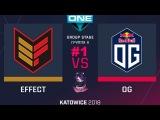 OG vs Effect RU #1 (bo3) ESL One Katowice 2018 Major Group A 20.02.2018