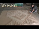 Wall 3d panel with CNC. Стеновая 3д панель на ЧПУ