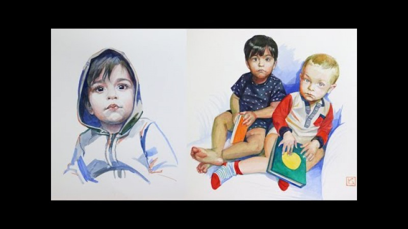 ПОРТРЕТ АКВАРЕЛЬЮ / КАК писать АКВАРЕЛЬЮ