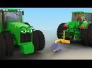 Тракторы для детей ВСЕ СЕРИИ ПОДРЯД. Спецтехника мультики для малышей. Видео про...