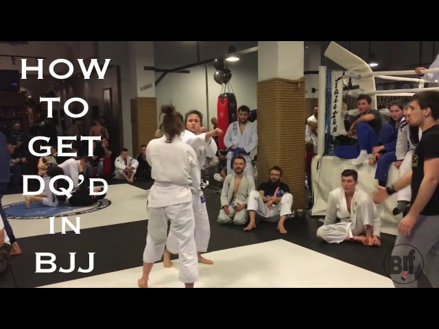 How to get DQd in BJJ - Girl Fights, Knee Reaps Head Butts [HELLO JAPAN]