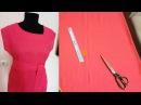 Платье туника с коротким рукавом без выкройки Шьем платье с асимметричным вырезом