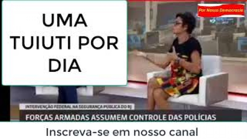 Professora Jaqueline Muniz aplica mais uma Tuiuti na Globo_