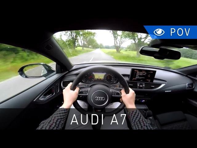 Audi A7 Sportback 3.0 TDI competition 326 KM (2017) Вид от первого лица
