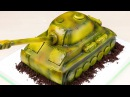 Подарок танкисту🎁. 3D торт ТАНК😊 ( English Subtitles ) - Я - ТОРТодел!