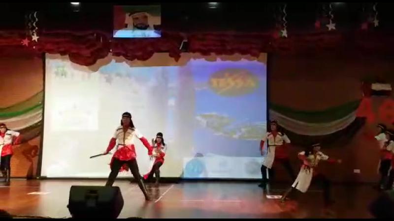 Город Абу-Даби  танец:ВСАДНИКИ  Ансамбль горец  Мы выйграли ГРАН ПРИ