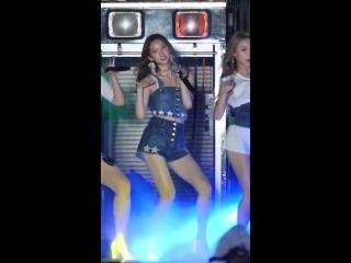 170722 씨엘씨 (CLC) 유진 썸머키스 (Summer Kiss) 해운대 City Block SKULLHAHA NORA 공연 직캠