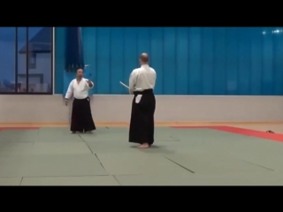 Aikido master demonstrates the absolute best technique for self-defense against a sword