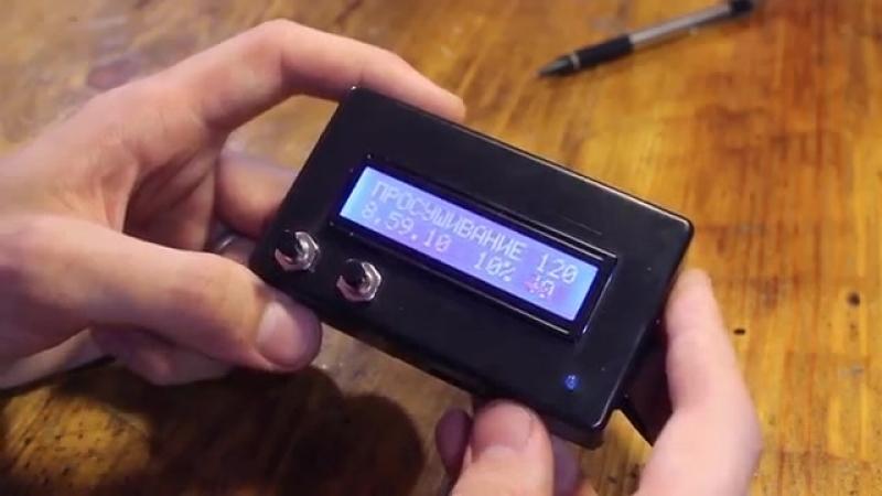 Автоматический контроллер муфельной печи с температурными полками 1
