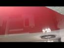 Двухуровневый натяжной потолок спайка цветов с индивидуальным дизайном