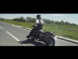 Guinness World Record in the longest motorcycle burn-out (Harley-Davidson Street