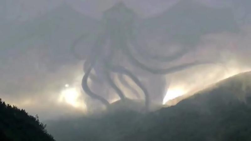 10 ужасных образов увиденных в облаках