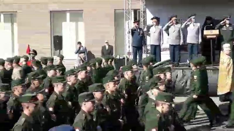 Закончена Присяга и теперь полноценные курсанты идут в корпуса.