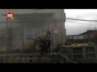 Полуголый краснодарский паркурщик пытался сбежать от курсантов МВД