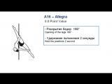 A16 - ALLEGRA - (0.8) - CODE OF POINTS (POSA-Pole Sports & World Arts Federation)