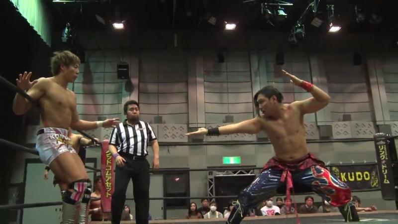 Konosuke Takeshita, Akito, Shunma Katsumata vs. Yukio Sakaguchi, Kota Umeda, Rekka (DDT - Dramatic Age, Age, Ageo)