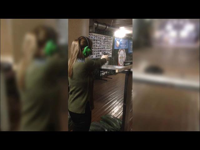 Дайдокай (Бийск), занятия по огневой подготовке (пистолет ПМ 9мм) январь 2018 г.