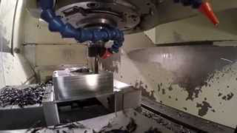Mastercam X9 Dynamic Milling 4140 Steel and M.A. Ford tooling