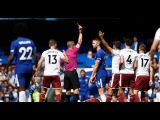 GARY CAHILL crazy Red Card Tackle on Steven Defour