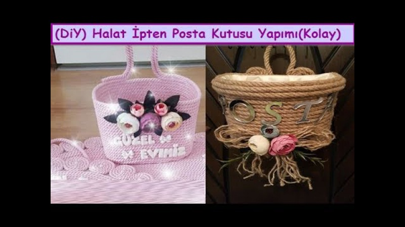 Diy Halat ipten Kapı Süsü Posta Kutusu Yapımı Crafts Art How To Make Wicker Rope home Decorations