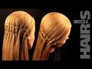 Плетение косы «Водопад» из двух прядей - видеоурок (мастер-класс) Hair's How