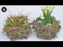 DIY - Frühlingsdeko / Osterdeko selber machen I XXL-Nest aus Zweigen I Deko mit Frühlingsblumen
