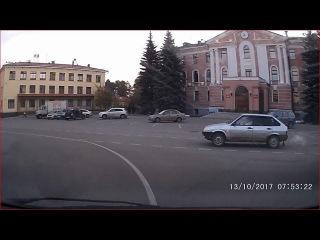Дамочка и Круговое движение. Снежинск 13 октября 2017