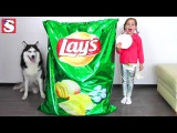 Bad Kids steals Giant Chips Song for Children Johny Johny Yes Papa Nursery Rhymes Kids Songs Babies