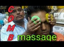 Intense Asmr comb head massage by old school barber