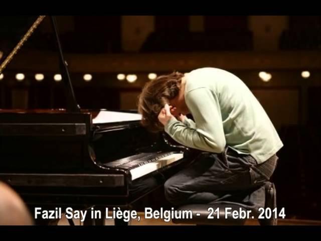 Fazil Say, Liège, Belgium - 21 Febr. 2014