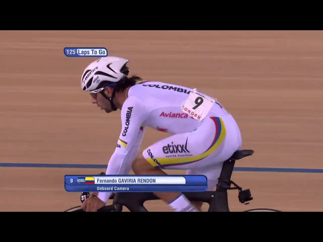 Men's Omnium - Points Race - 2016 UCI Track Cycling World Championships