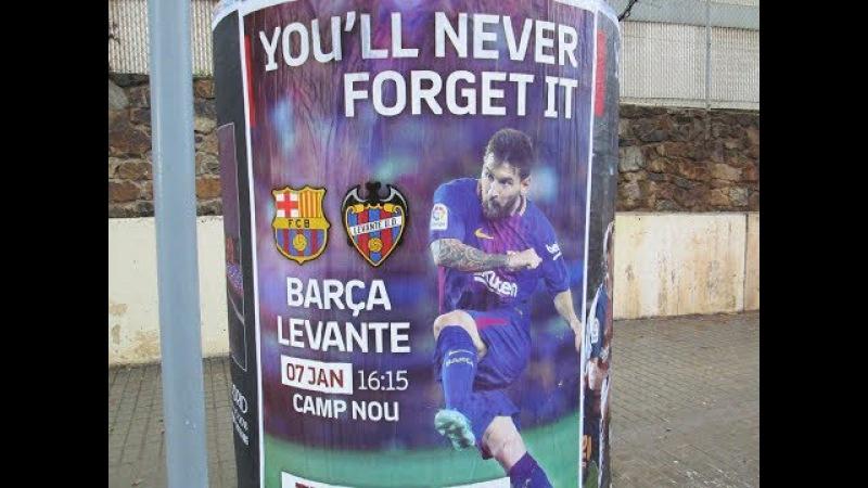 Барселона Леванте 3 0, все голы и опасные моменты, голы Месси 12, Суарес 37, Паулинь ...