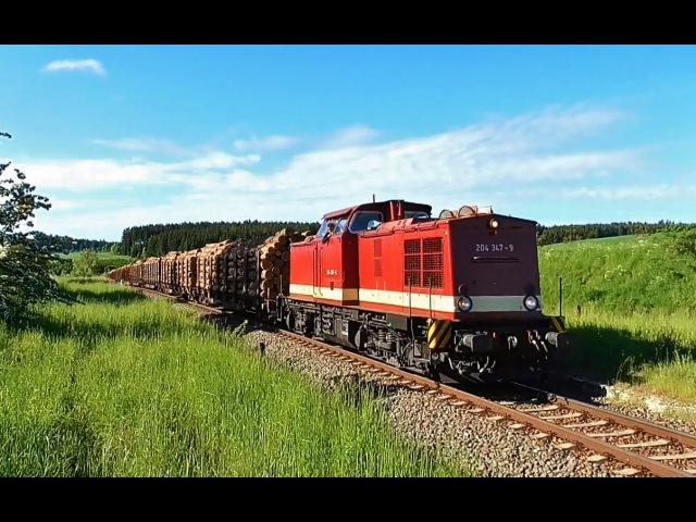 Dieselverkehr im Thüringer Oberland Hof und Umgebung BR 261 Ludmilla uvm