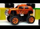 Видео про машинки. Джип монстр трак с большими колесами. Меняем резину. Игрушки для детей