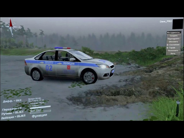 SpinTires - обзор Ford Focus 2010