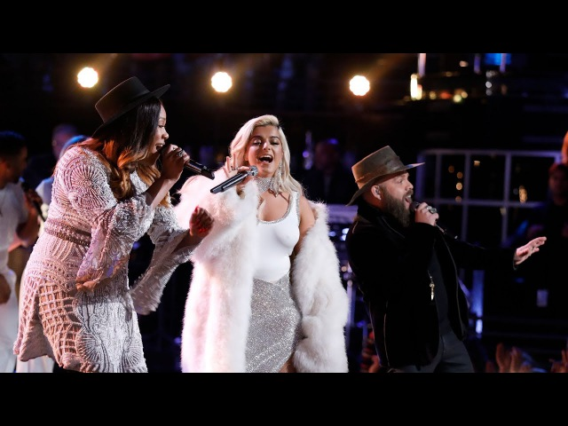 """The Voice 2017 Adam Cunningham, Keisha Renee Bebe Rexha - Finale: """"Meant to Be"""""""