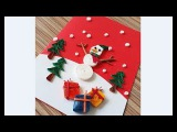 DIY Paper Quilling -Christmas Card - Easy &amp Simple  Christmas design 20